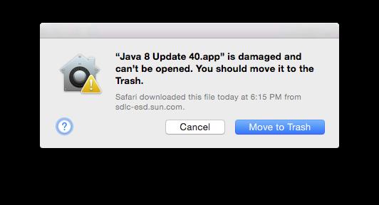 Damaged Java 8
