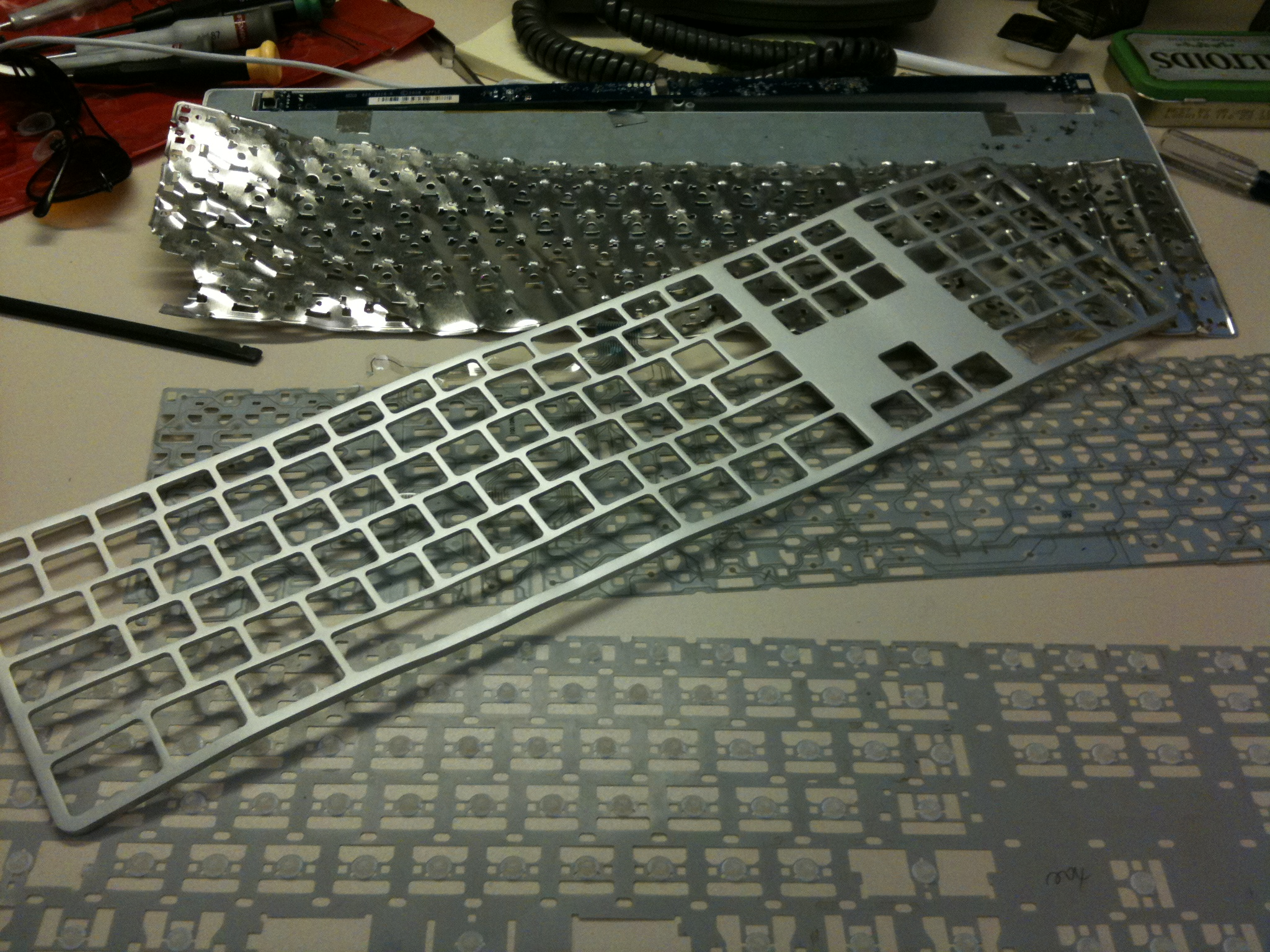 How to disassemble the keyboard 5