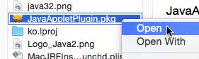 Java 8 PKG Open