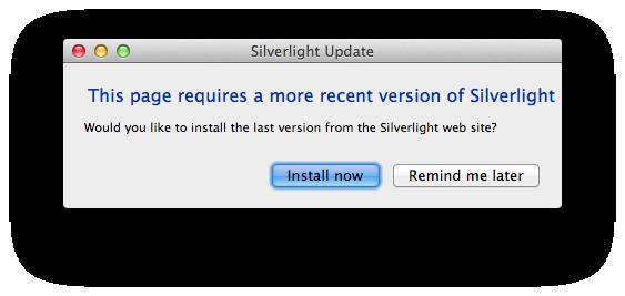 SilverlightUpdatePrompt