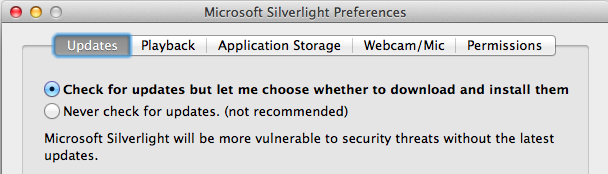 SilverlightUpdates