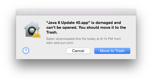 Damaged Java 8