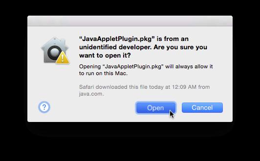 Open JavaAppletPlugin